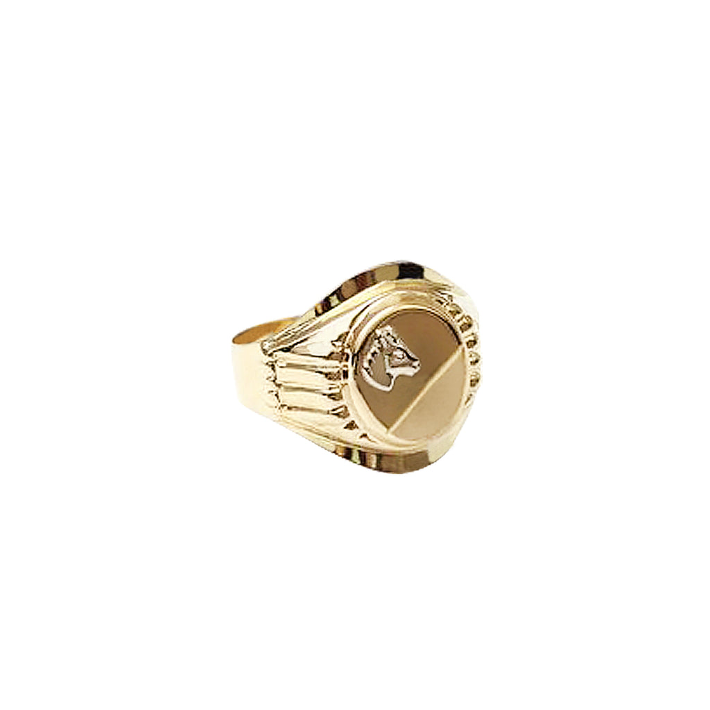 18K Saudi Gold Horse Head Ring