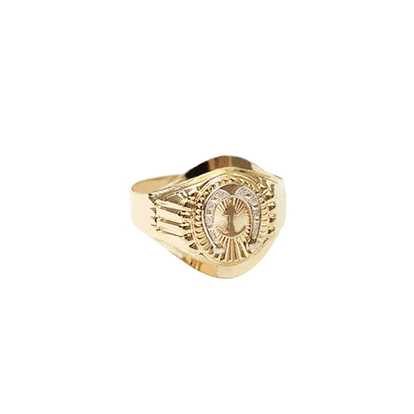 18K Saudi Gold Horse Shoe Ring