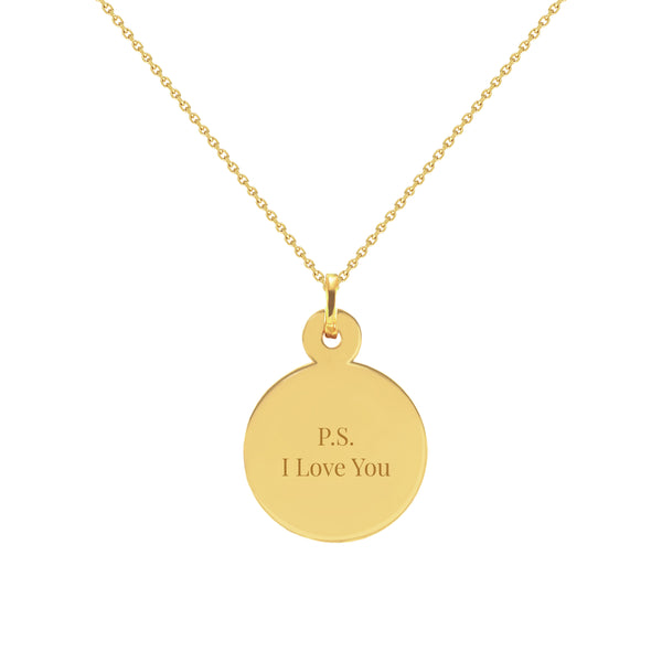 P.S. I Love You Gold Disc Necklace