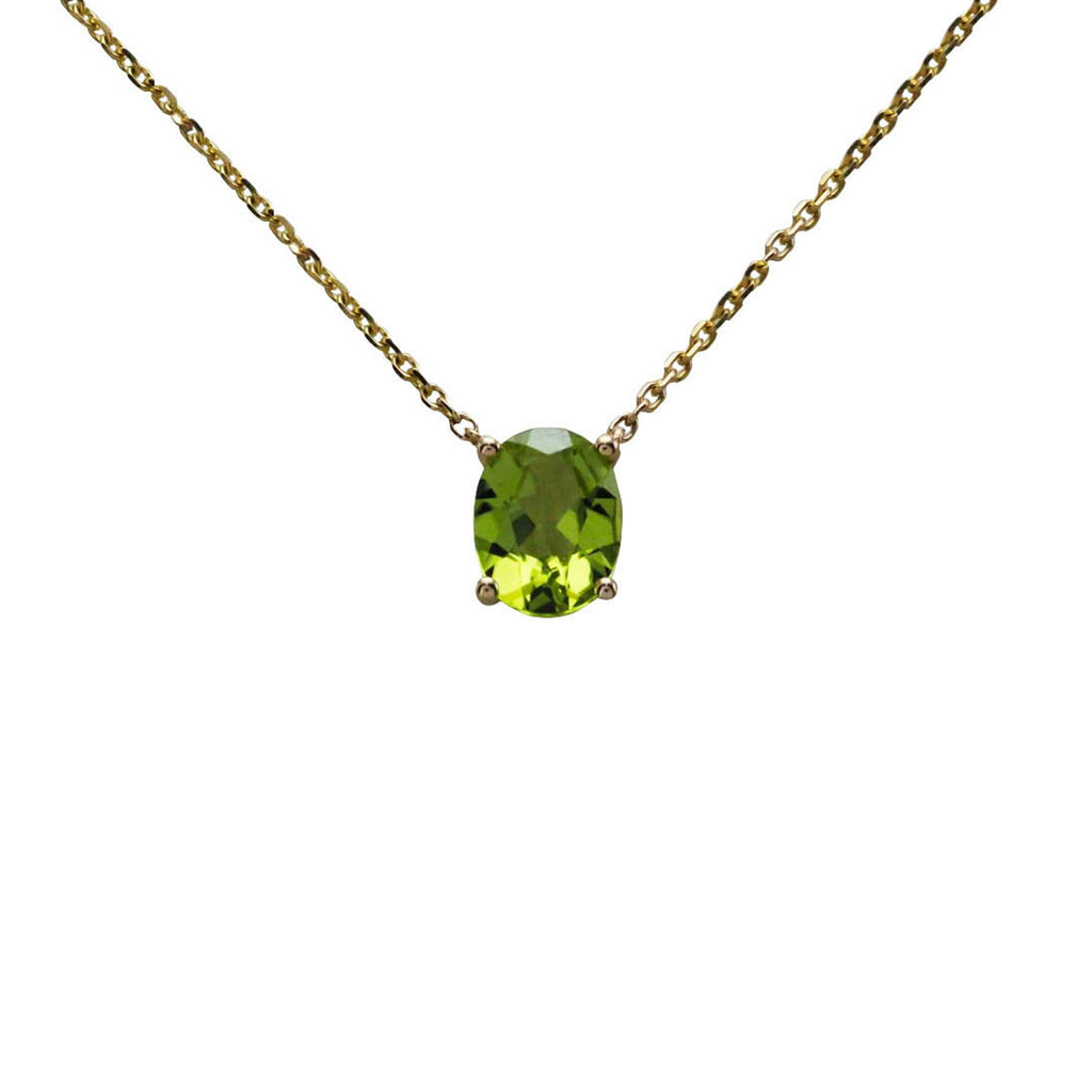 Keepsake Collection Peridot Oval Necklace