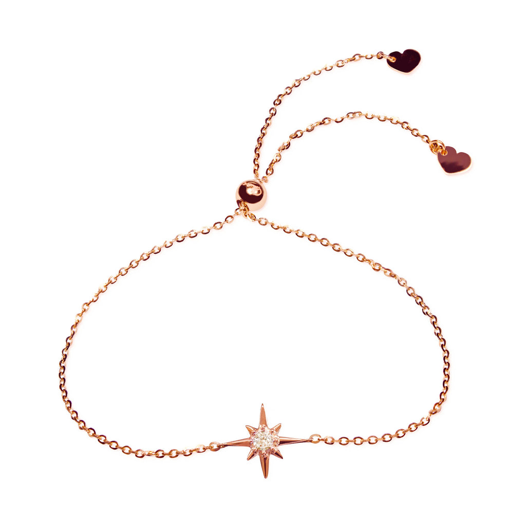Affinity Star Bracelet set in 14k Rose Gold