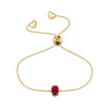 Affinity Collection Ruby Oval Bracelet Set in 14k Yellow Gold