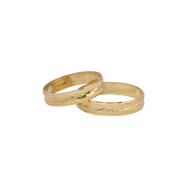 18K Saudi Gold Agave Wedding Ring