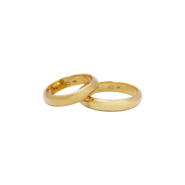 18K Saudi Gold Bacchus Wedding Ring