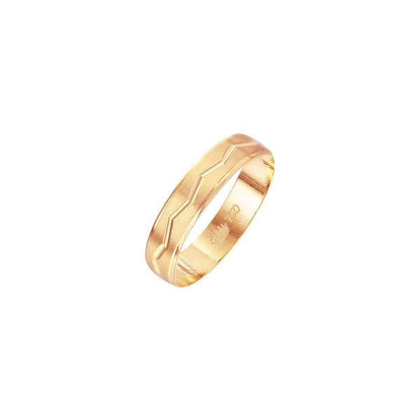 18K Saudi Gold Epona Wedding Ring