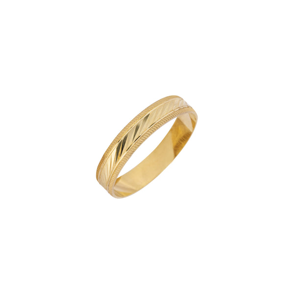 18K Saudi Gold Semele Wedding Ring