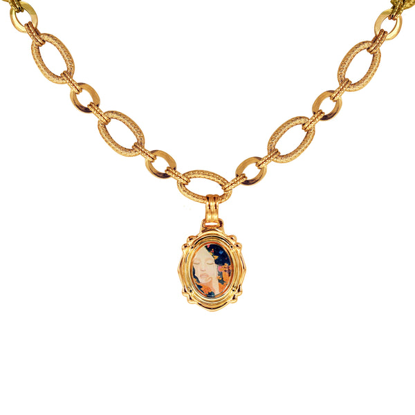 "The Modern Muse Collection ""SOFIA"" 14K Yellow Gold Necklace with 18K Charm"