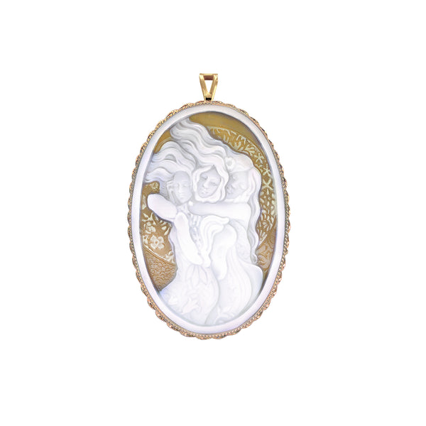 "The Modern Muse Collection ""TRES MARIAS"" Conch Shell Cameo Pendant/Brooch"