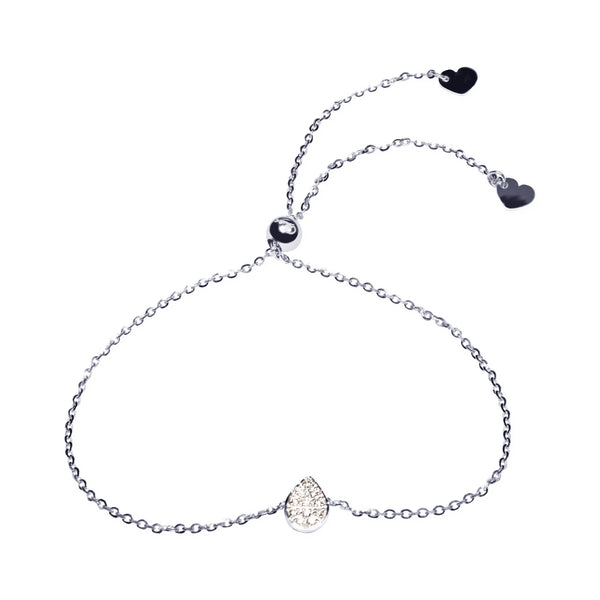 Affinity Collection Pear Bracelet set in 14k White Gold