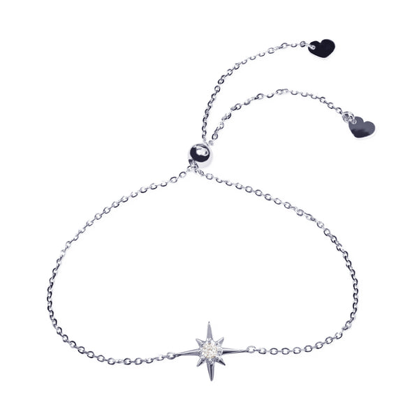 Affinity Collection Star Bracelet set in 14k White Gold