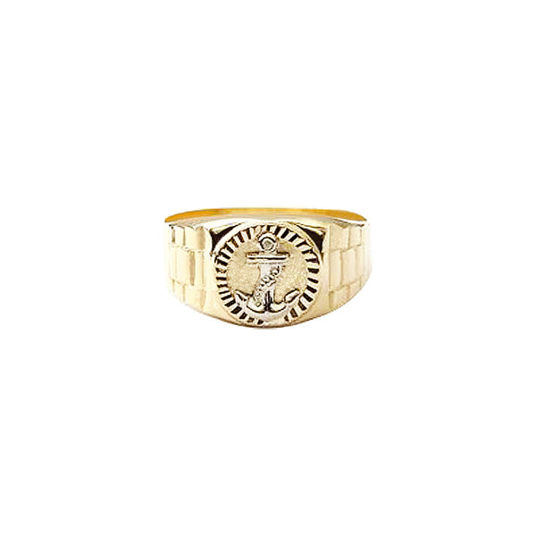 18K Saudi Gold Anchor Ring