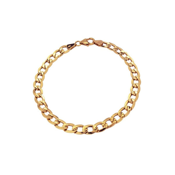 18K Saudi Gold Barbada Chain Anklet