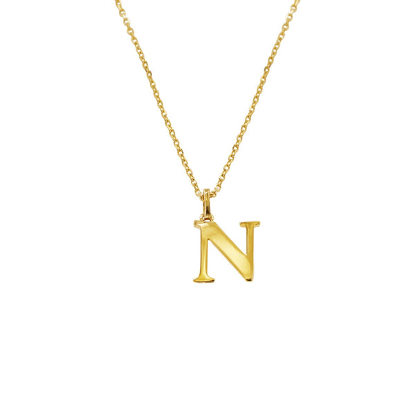 14K Italian Gold Letter Necklace