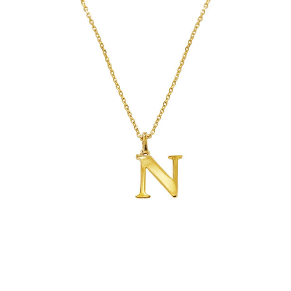 14K Italian Gold Letter F Necklace