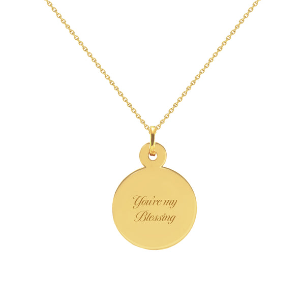You're My Blessing Gold Disc Necklace