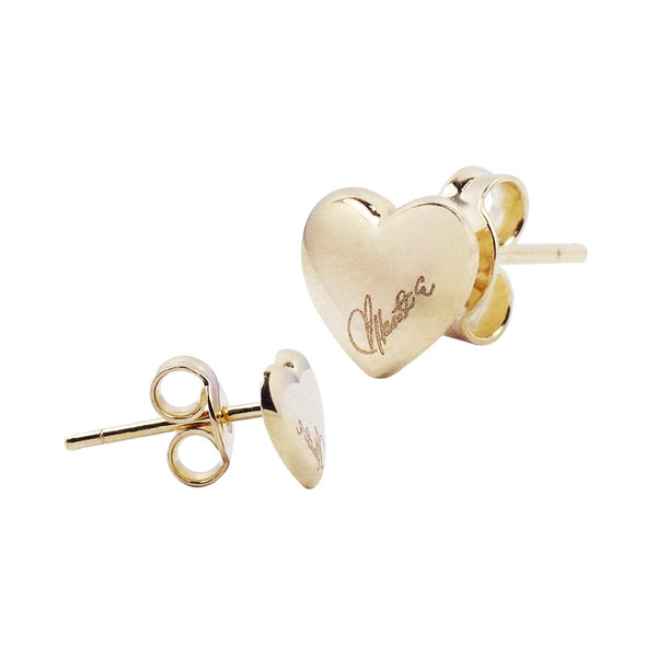 18K Saudi Gold Serendipity Collection Stud Earrings