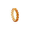 Citrine Full Eternity Ring in 14K Yellow Gold by Royal Gem