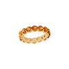 Citrine Full Eternity Ring in 14K Yellow Gold