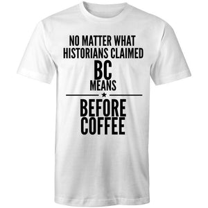 Coffee Academy - Before Coffee, AS Colour Mens T-Shirt-Men - Apparel - Shirts - T-Shirts-White-Small-Tiny White Lies