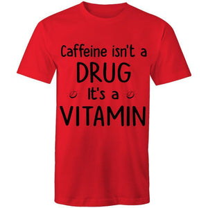 Coffee Academy - Coffee Isn't a Drug, AS Colour Mens T-Shirt-Men - Apparel - Shirts - T-Shirts-Red-Small-Tiny White Lies