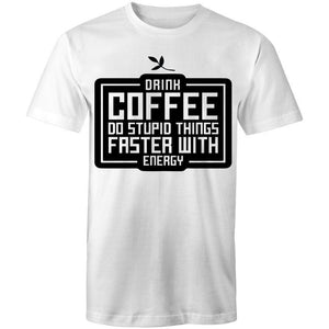 Coffee Academy - Drink Coffee! AS Colour Mens T-Shirt-Men - Apparel - Shirts - T-Shirts-White-Small-Tiny White Lies