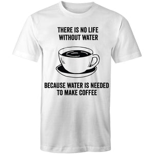 Coffee Academy - Without Coffee, AS Colour Men's T-Shirt-Men - Apparel - Shirts - T-Shirts-White-Small-Tiny White Lies