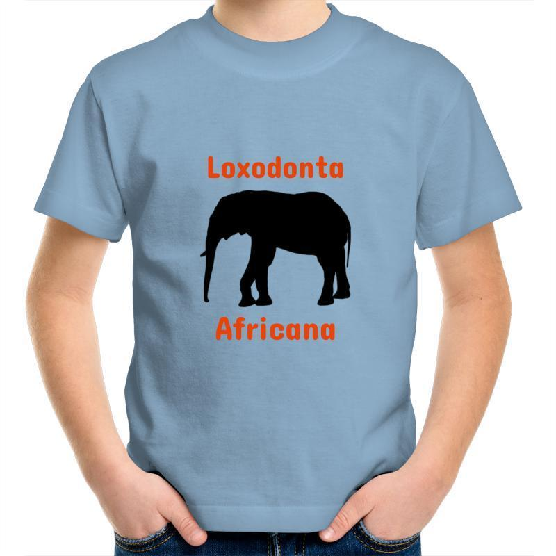 Elephant AS Colour Kids Youth Crew T-Shirt-Kids - Apparel - T-Shirts-Carolina Blue-Kids 2-Tiny White Lies