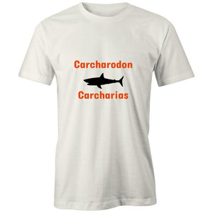 Great White - Carcharodon carcharias, AS Organic Tee-Men - Apparel - Shirts - T-Shirts-Natural-XXS-Tiny White Lies