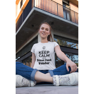 Keep Calm I'm a Street Food Vendor, Womens Crew T-Shirt-Women - Apparel - Shirts - T-Shirts-Tiny White Lies