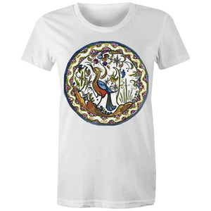 Land of Bird, Women's Crew T-Shirt-Women - Apparel - Shirts - T-Shirts-White-Womens 8 / XS-Tiny White Lies