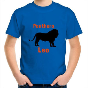 Lion AS Colour Kids Youth Crew T-Shirt-Kids - Apparel - T-Shirts-Bright Royal-Kids 2-Tiny White Lies