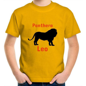 Lion AS Colour Kids Youth Crew T-Shirt-Kids - Apparel - T-Shirts-Gold-Kids 2-Tiny White Lies