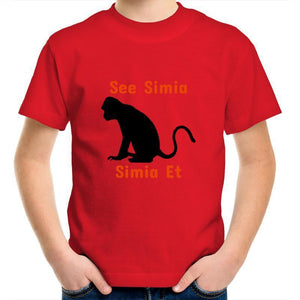 Monkey AS Colour Kids Youth Crew T-Shirt-Kids - Apparel - T-Shirts-Red-Kids 2-Tiny White Lies