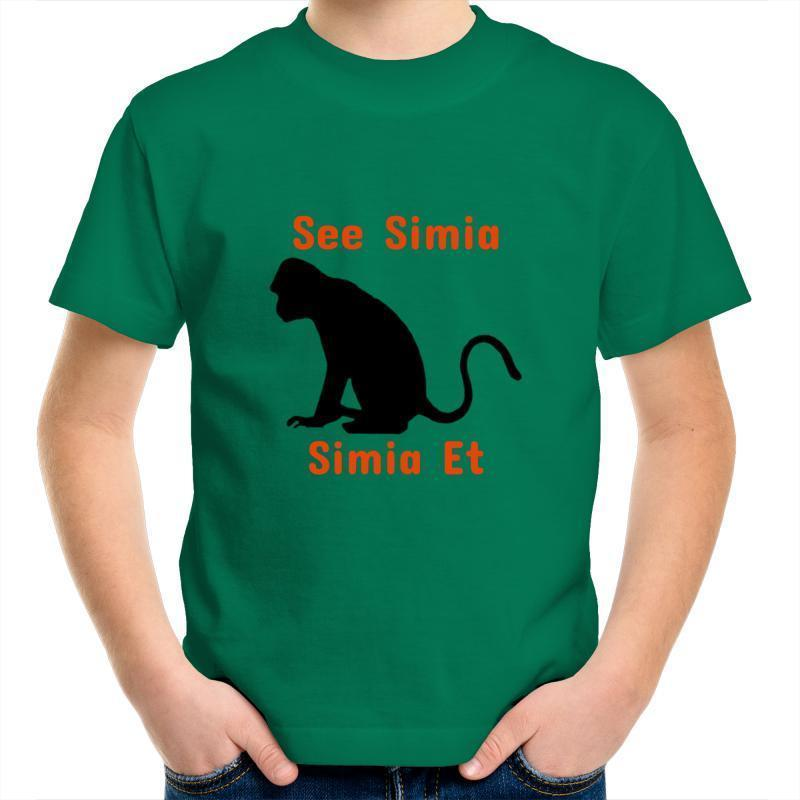 Monkey AS Colour Kids Youth Crew T-Shirt-Kids - Apparel - T-Shirts-Kelly Green-Kids 2-Tiny White Lies