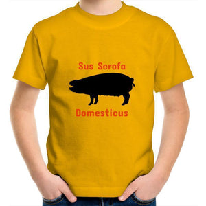 Pig AS Colour Kids Youth Crew T-Shirt-Kids - Apparel - T-Shirts-Gold-Kids 2-Tiny White Lies