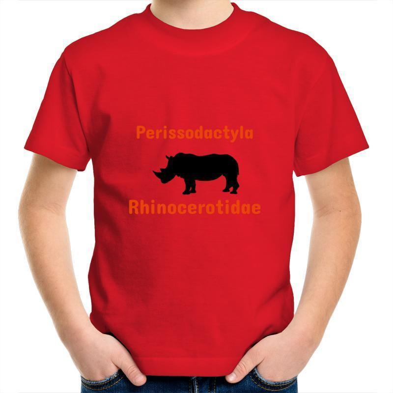Rhino AS Colour Kids Youth Crew T-Shirt-Kids - Apparel - T-Shirts-Red-Kids 2-Tiny White Lies