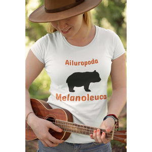 The Panda - Ailuropoda Melanoleuca, Womens Crew T-Shirt-Women - Apparel - Shirts - T-Shirts-Tiny White Lies