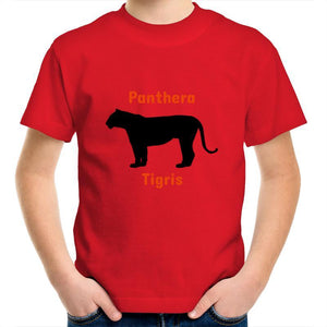 Tiger AS Colour Kids Youth Crew T-Shirt-Kids - Apparel - T-Shirts-Red-Kids 2-Tiny White Lies