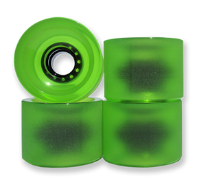 Lucid - 70mm 83a Longboard Skateboard Wheels Stone Ground With Bearings & Spacers