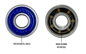KOASTAL Skateboard Bearings ABEC 7 Oil Filled Nylon Seal - Spacers Included