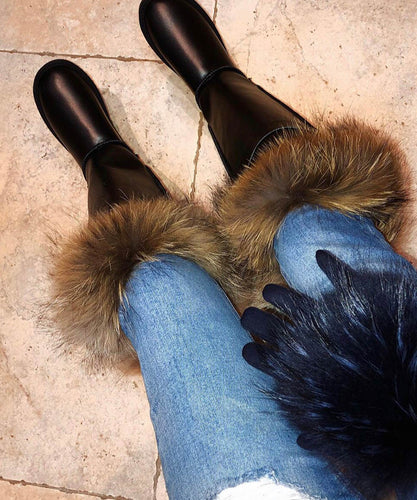Leather Fur Boots