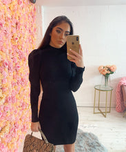 High Neck Shoulder Dress
