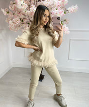Tutu Hem Lounge Set In Beige