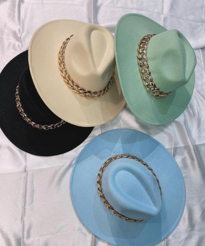 PRE ORDER - Chain Fedora Hat In Mint