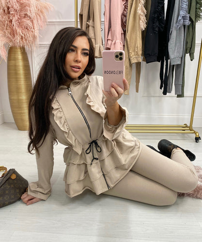 NELLY Pleated Lounge Wear In Beige