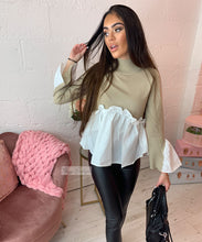 Lily Pleated Shirt Jumper