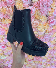 Chunky Heel Studded Ankle Boots