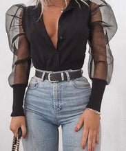Mesh Sleeve Cardigan Top