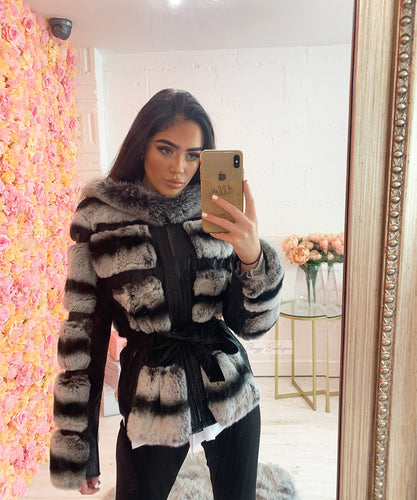 Luxury Belted Fur Jacket