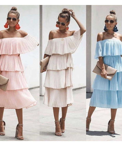 Maisie Ruffle Midi Dress